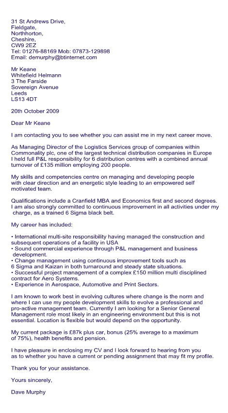 Cover Letter Template For Agency Cover Letter For Recruitment Consultant